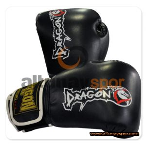 Dragon Attack Muay Thai Eldiveni Siyah